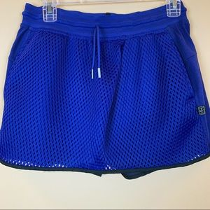 Nike skort perforated skirt overlay royal blue